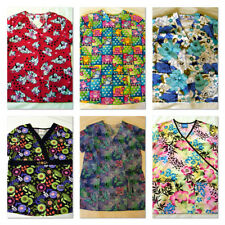 61 Scrub Tops Womens Unisex Solids Prints N W O T & pre-owned gently used