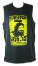Cactus Jack Mick Foley Wanted Dead Poster Sleeveless Mens T-shirt