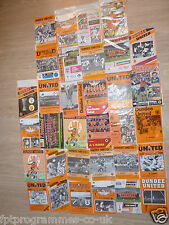 Dundee Utd Home Programmes 1978/79 onwards. Select the one(s) you require