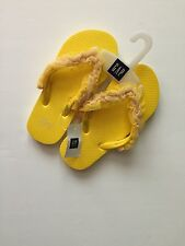 NEW GAP YELLOW FLIP FLOPS SHOES GIRLS US SIZE 10/11 12/13 1/2 3/4 5/6