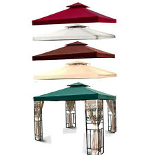 New Outdoor Gazebo 2 Tier 10'x10' Canopy Top Fabric Cover Replacement Sun Shade