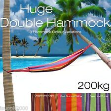 Huge Double Hammock Cotton Fabric Air Chair Swing Hanging Camping Foldable AU
