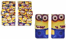 New Despicable Me Minion PU Leather Wallet Case For Samsung Galaxy S3 Mini i8190