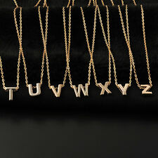 New Stylish Women Fashion Gold Plate Letter Name Initial Chain Pendant Necklaces