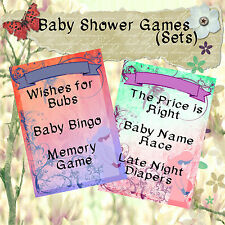 Print Your Own Baby Shower Games - Pregnant Silhouette -Bingo/Wishes/Memory, etc