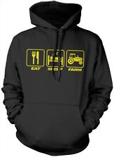 Eat Sleep Farm Unisex Hoody Farming Gift Farmer - Many Colours + Sizes Hoodie