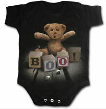 Spiral Clothing Boo! Onesie Punk Gothic Black Baby Romper Gift Teddy Bear Cute