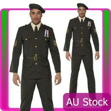Adult Mens Wartime Officer Male Army Smiffys Fancy Dress Costume Uniform Party