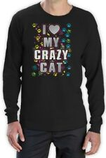 I Love My Crazy Cat Graphic Cool Kitty Lover funny gift Long Sleeve T-Shirt Idea
