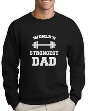 Fathers Day Gift Idea Worlds Strongest Dad Gym Sweatshirt Cool Men's Jumper