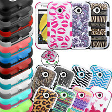 For Motorola Moto E 2 2nd Gen ShockProof TUFF Hybrid Hard Protective Case Cover