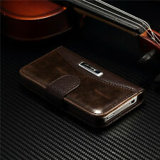 New Magnetic Flip Luxury Leather Stand Wallet Case Cover For Apple iPhone 4 4s
