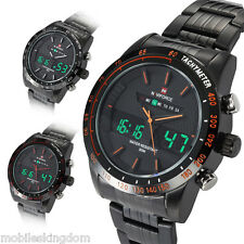 Men's Army Military LED Date Day Stainless Steel Band Sport Quartz Wrist Watch