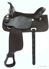 18 Inch Krypton Synthetic/Leather Western Saddle (Black or Brown)