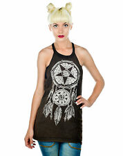 Too Fast Dark Dreams Catcher Occult Sleeveless Slaughter Grey Tunic Tank Top