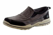 Skechers Relaxed Fit Vorlez Fontes Navy Memory Foam Slip On Sneakers Shoes