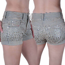 Diesel Womens Jeans Shorts Hot Pant Brucke Sequin Size. W28 #4