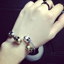 New Metal Alloy Gothic Punk Rock Vintage Skull Bangle Cuff Bracelet Colorful 1Pc