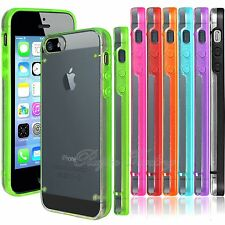 Ultra Thin Transparent Clear Hard Back Case Cover with TPU Frame For iPhone 5 5S