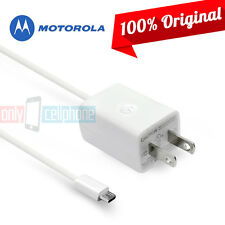 OEM Original Motorola Premium White Micro USB Home Wall Travel Charger