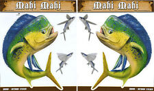 Mahi Large Decal Sticker Right Left Facing Boats Trucks Fishing Fish Dolphins