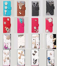 Bling Rose camellia Wallet Leather Flip Case Cover for Various LG Cell Phone