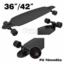 MAPLE DROP THROUGH Complete Skateboard LONGBOARD THRU Black