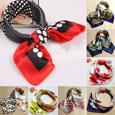 Fashion Silk Square Scarf Scarves Bandanas Head Wrap Shawl Satin Stewardess