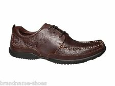MENS HUSH PUPPIES ACCEL OXFORD BROWN MEN'S LEATHER LACE UP WORK FORMAL SHOES