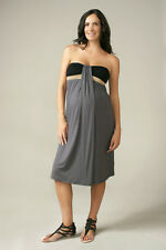 New MATERNAL AMERICA MATERNITY Colorblock Strapless Summer Dress M & L 8 10 12