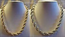 "GOLD or SILVER 5MM 8MM THICK FAT HEAVY ROPE CHAIN 18"" HIP HOP NECKLACE NEW"