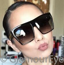 RARE Huge Oversized Square Flat Top Kim K Wayfarer XXL Big Diva Sunglasses 8818