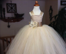 2015 Flower Girl Dress Tutu Dress Tulle Ball Gown Easter Popular Pageant Gowns