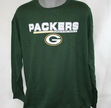NEW Mens MAJESTIC Green Bay Packers NFL Green Big & Tall Football LS T-Shirt