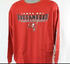 NEW Mens MAJESTIC Tampa Bay Buccaneers NFL Red Big & Tall Football LS T-Shirt