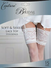 Luxury Wedding Stockings Bride soft sheer Bridal White Ivory sizes Medium large