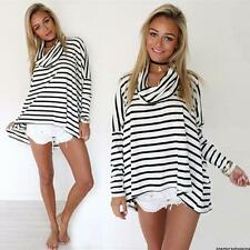 2015 Women's Maternity Tops Loose Mini Dress Turtle Neck Pregnancy Tunic Blouse