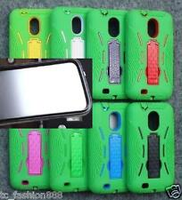Samsung Galaxy S2 II SCH-R760 SILICONE GREEN with BUILT IN SCREEN PROTECTOR Case