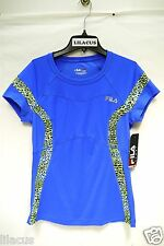 New FILA SPORT Printed Inset Workout Tee For Women's (snag on the back )