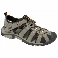 PDQ Mens Toggle Velcro Comfortable Summer Beach Outdoor Trail Sport Sandals Grey