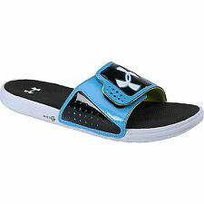 UNDER ARMOUR Sandals Men's Micro G EV Slides Sandals BLACK/BLUE NWT Close Out