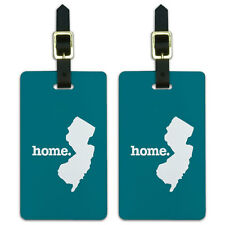New Jersey NJ Home State Luggage Suitcase ID Tags Set of 2