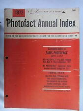 Photofact Annual Index Ranges from 1972 to 1987