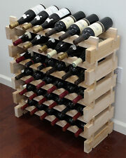 36 Stackable Wine Storage Rack, Solid Pine, Good Alternative to Cellar WN36