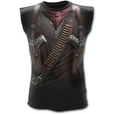 Spiral Direct Holster Wrap Western Gun Apocalypse Sleeveless Top Vest Tshirt