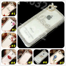 New 3D Shine luxury Bling Transparent Clear Crystal Hard Back Case Cover skin #4