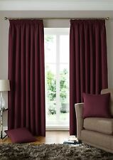 WOVEN JACQUARD SQUARES WINE RED LINED PENCIL PLEAT CURTAINS *9 SIZES*