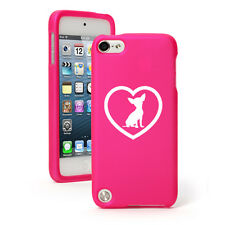 For Apple iPod Touch 4th 5th 6th Rubber Hard Case Cover Chihuahua Heart