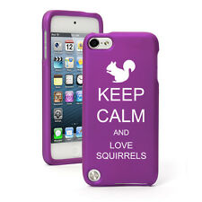 For Apple iPod Touch 4th 5th 6th Rubber Hard Case Cover Keep Calm Love Squirrels