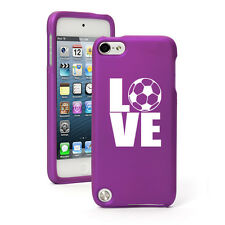 For Apple iPod Touch 4th 5th 6th Rubber Hard Case Cover Love Soccer